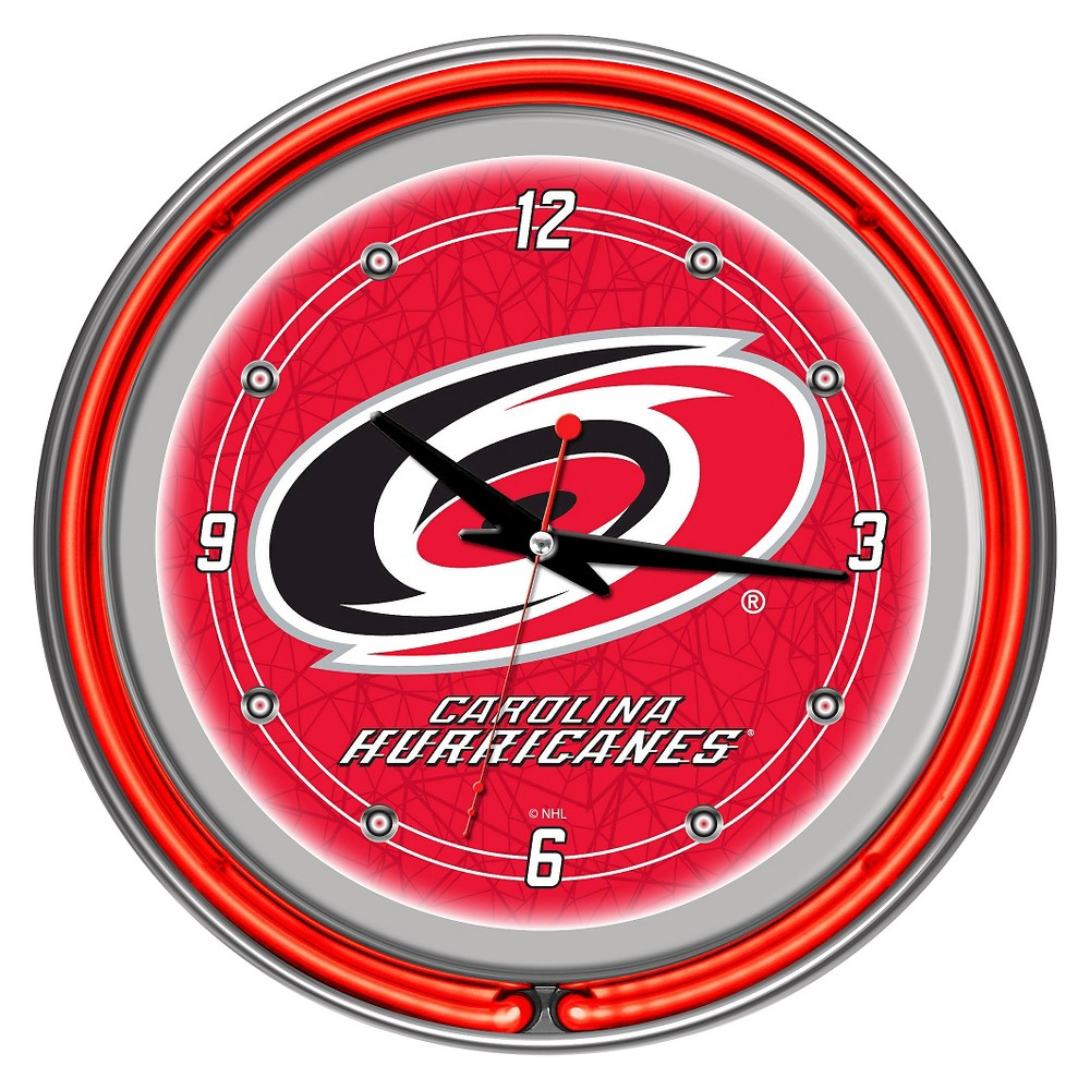 Carolina Hurricanes Neon Wall Clock