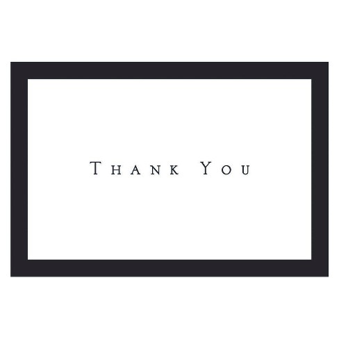 Tuxedo Thank You Note Cards (50ct) - Black/White - image 1 of 1