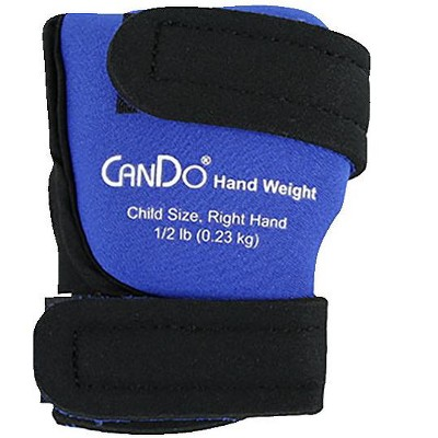 CanDo Palm Weights, Child Size, Right Hand, 1/2 Pound