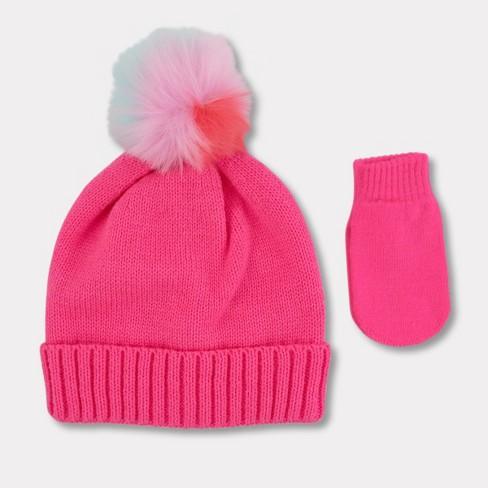 674a2bb0f0f Toddler Girls  Hat And Mitten Set - Cat   Jack™ Pink   Target