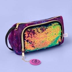 Velvet Sequin Pencil Pouch - Purple - More Than Magic™