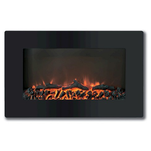Cambridge CAM30WMEF-2BLK Callisto 30 In. Wall-Mount Electronic Fireplace with Flat-Panel and Realistic Logs - image 1 of 2