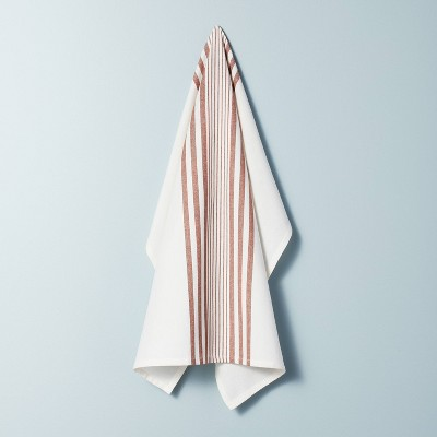 Multi Stripe Flour Sack Kitchen Towel Pumpkin Brown - Hearth & Hand™ with Magnolia