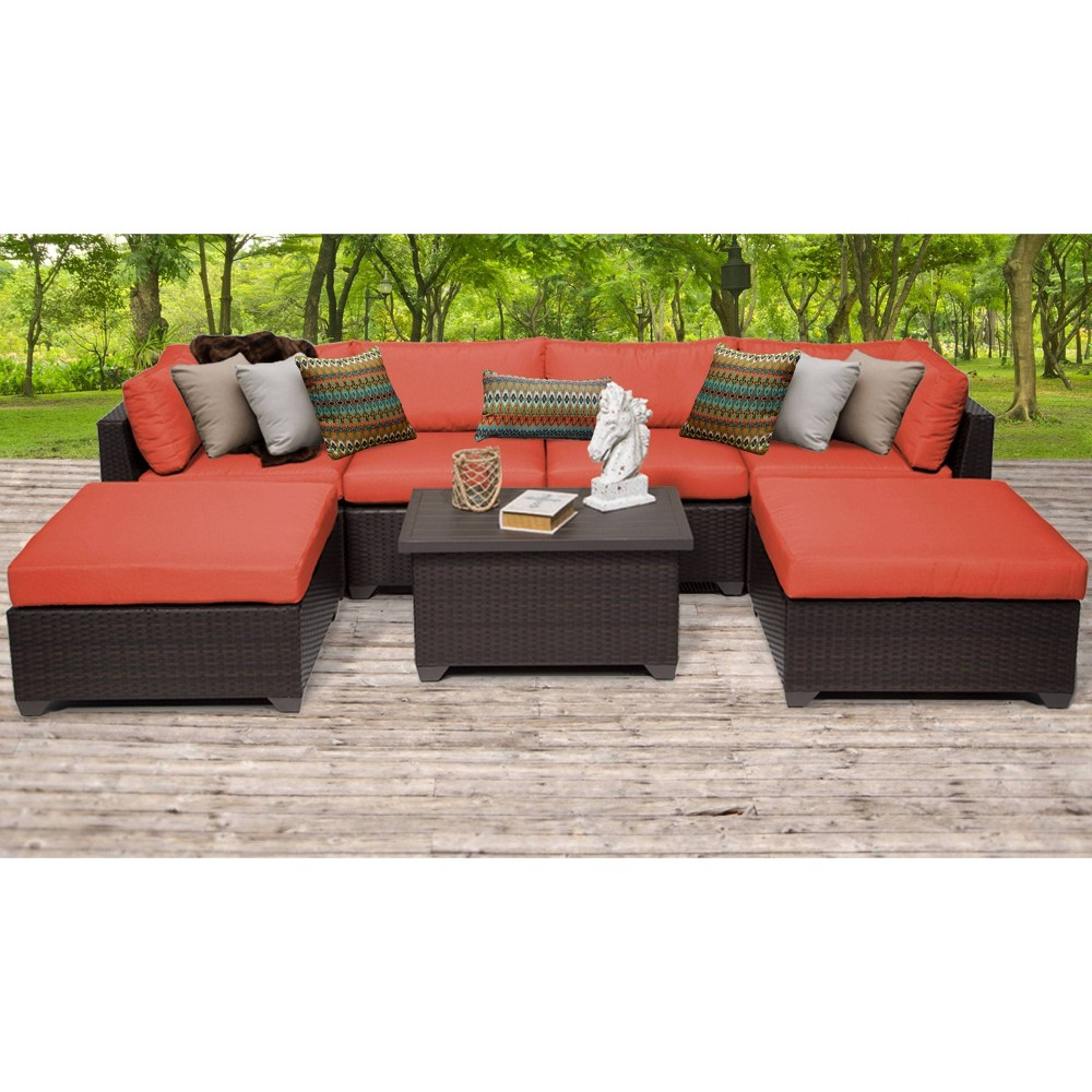Belle 7pc Sectional Seating Group With Cushions Tangerine Tk Classics