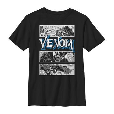 Boy's Marvel Venom Comic Panels T-Shirt