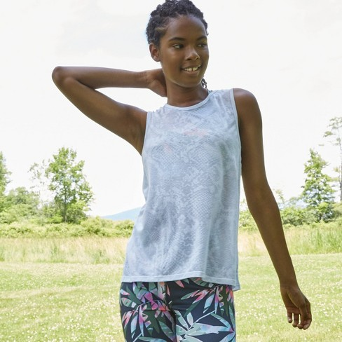 Women's Snakeskin Burnout Tank Top - JoyLab™ - image 1 of 4