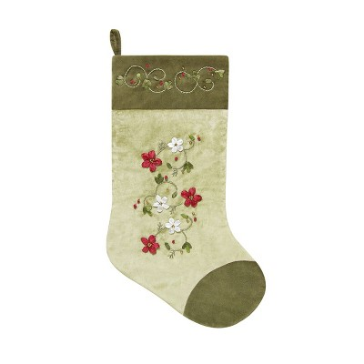 C&F Home Holiday Wreaths Stocking