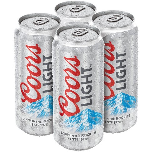 Coors Light Beer - 4pk/16 fl oz Cans - image 1 of 2