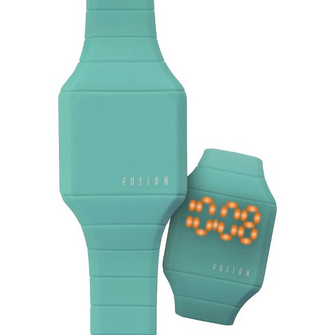Girls' Fusion Hidden LED Digital Watch - Teal - image 1 of 4