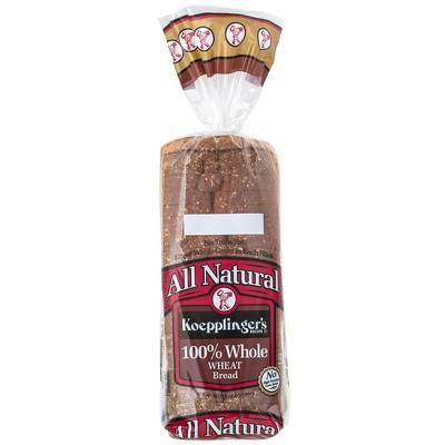 Koepplinger's All Natural 100% Whole Wheat Sandwich Bread - 24oz