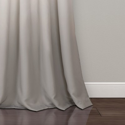 Umbre Fiesta Room Darkening Window Curtain Panels Yellow/Gray Set 52 X84  - Lush Decor