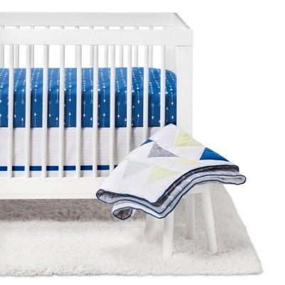 Crib Bedding Set Triangles 4pc - Cloud Island™ - Blue