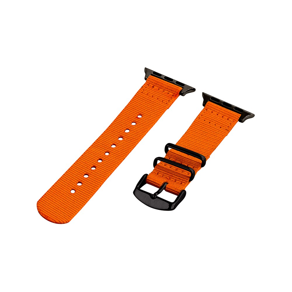Clockwork Synergy Classic Nato 2 Apple Watch Band 38mm with Black Adapter - Orange, Adult Unisex Customize the look of your timepiece with the Classic Nato 2-Piece Apple Watch Band from Clockwork Synergy. Crafted from high-quality nylon, this orange watchband ensures long-lasting durability without sacrificing comfortable wear. With 11 adjustability holes, you'll get the perfect custom fit so your watch stays in place all day. Whether you add a pop of color to your look from the orange watchband, or you switch it out to complement a specific outfit, you'll love sporting a unique look that complements your style. Gender: Unisex. Age Group: Adult.