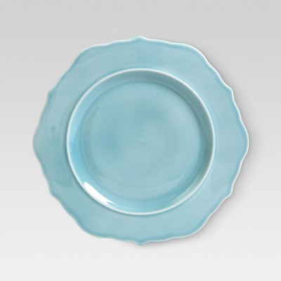 Wellsbridge Ceramic Dinner Plate 10.8  Aqua - Threshold™