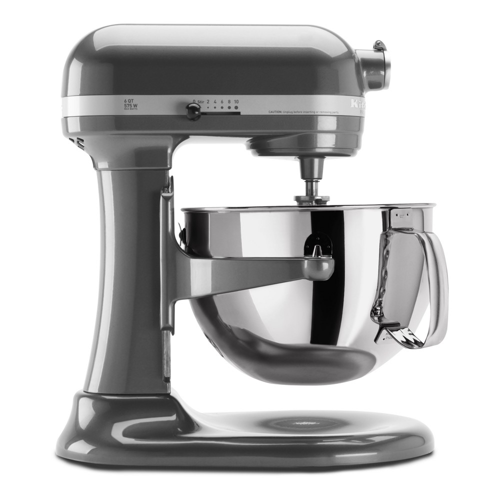 KitchenAid Refurbished Professional 600 Series 6qt Bowl-Lift Stand Mixer Dark Silver - RKP26M1XPM