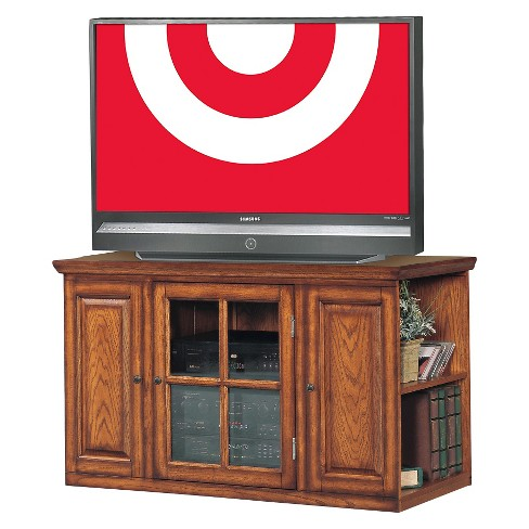 42 Riley Holliday Tv Stand Burnished Oak Leick Home Target