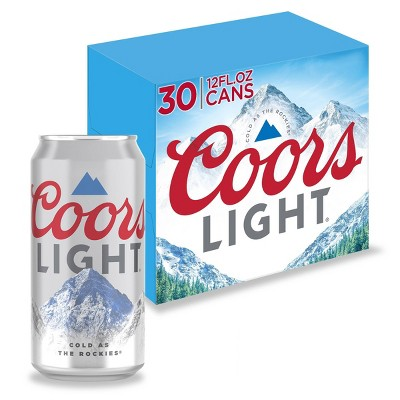 Coors Light Beer - 30pk/12 fl oz Cans