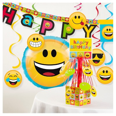 Show Your Emojions Birthday Party Decorations Kit