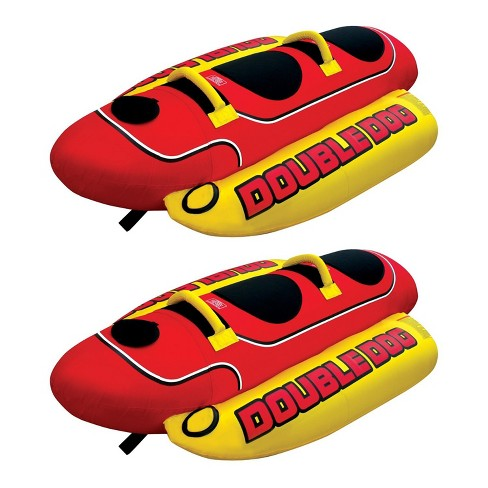 a9c1d5f369f Airhead Hd-2 Hot Dog Double Towable Inflatable Lake Tube 1-2 Person (2  Pack)   Target