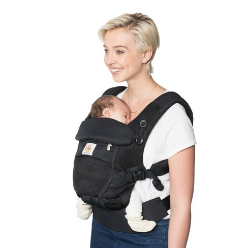 Ergobaby Adapt Ergonomic Multi-Position Cool Air Mesh Baby Carrier - Onyx  Black   Target