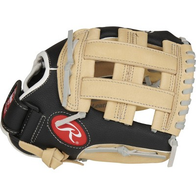 "Rawlings Playmaker 10.5"" T Ball Glove - Black/Brown"