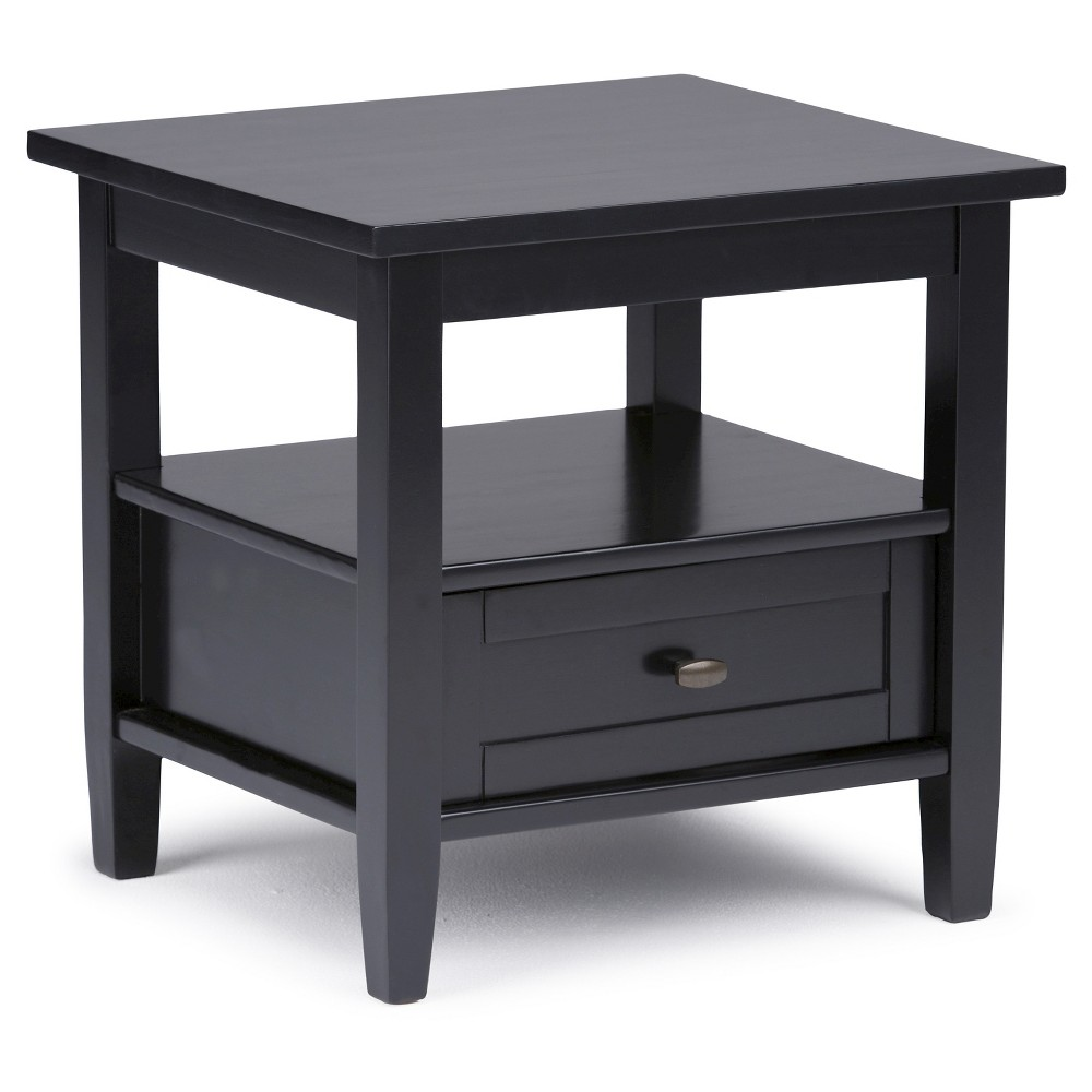 Norfolk Solid Wood End Table Black - Wyndenhall
