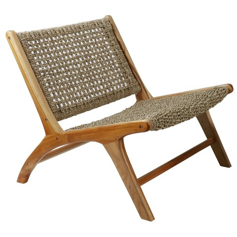 London Seagrass Chair Natural - Decor Therapy - image 1 of 4