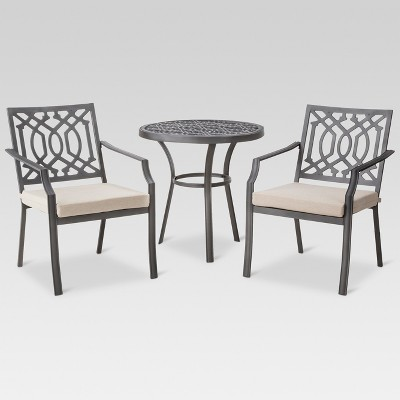 Harper 3pc Metal Patio Bistro Set - Tan - Threshold™