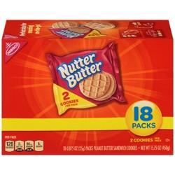 Nutter Butter Peanut Butter Sandwich Cookies - Multipack - 18ct/0.875oz