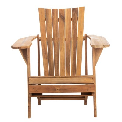 Merlin Adirondack Chair With Retractable Footrest - Natural - Safavieh
