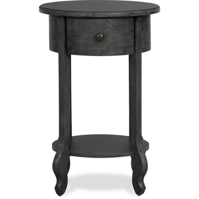 James Round Side Table Dark Gray - Finch