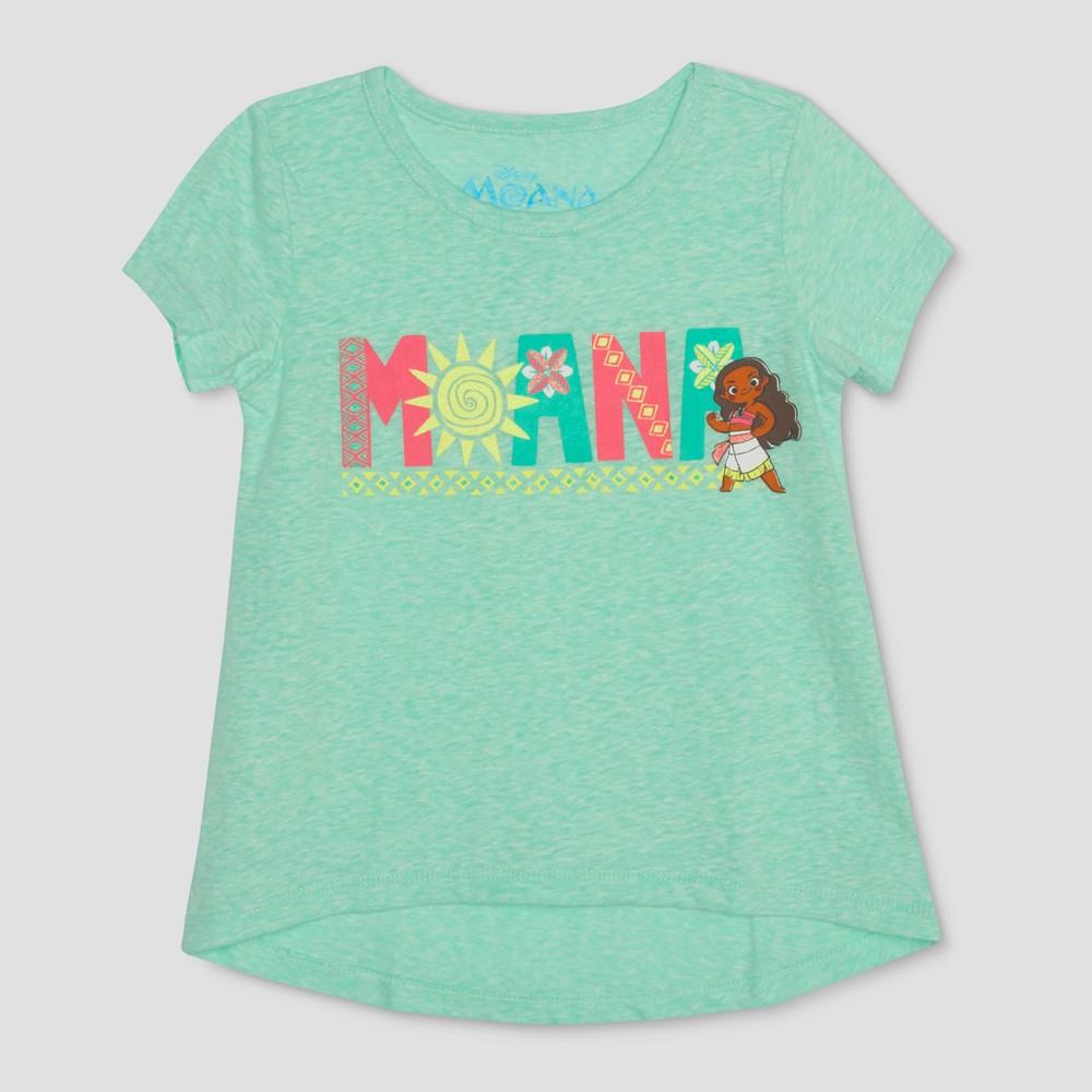 Toddler Girls' Young Moana Short Sleeve T-Shirt - Aqua 5T, Blue