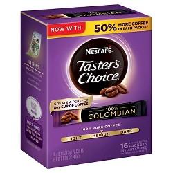 Nescafé Taster's Choice Colombian Medium Dark Roast Instatant Coffee - 16ct