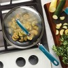 "Rachael Ray Create Delicious 10.25"" Hard Anodized Aluminum Nonstick Deep Fry Pan w/ Lid Teal Handles - image 2 of 4"