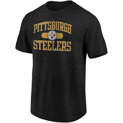 NFL Pittsburgh Steelers Men's Heather Short Sleeve T-Shirt