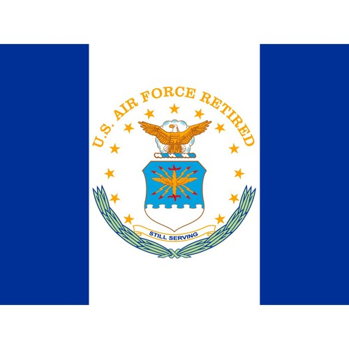 Halloween US Air Force Retired Flag - 3' x 4', Blue