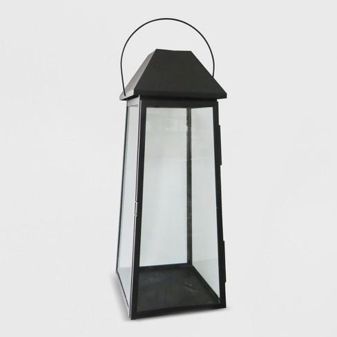 Outdoor Lantern Black Hood - Threshold™ - image 1 of 3