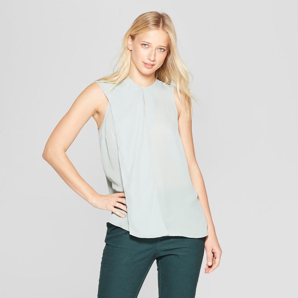 Women's Tie Neck Shell - Who What Wear Green L