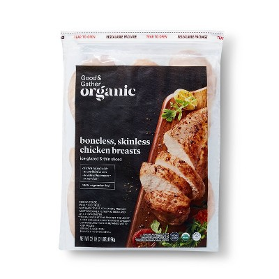 Organic Boneless & Skinless Chicken Breasts - Frozen - 2lbs - Good & Gather™