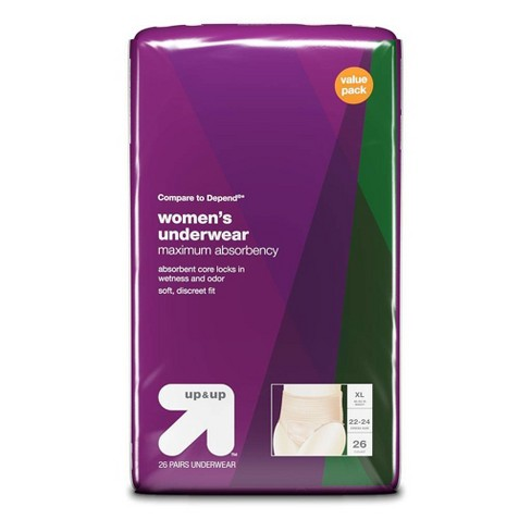 Incontinence Underwear for Women - Extra Large - 26ct - Up&Up™ - image 1 of 3