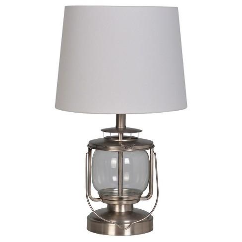 Lantern Table Lamp Silver Pillowfort Target