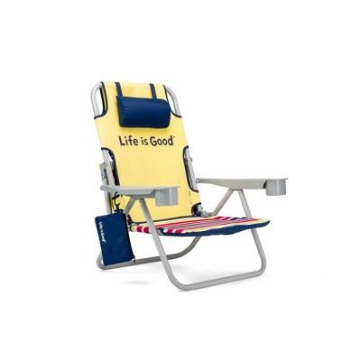Aluminum Folding and Reclining Beach Chair Daisy Yellow - Life is Good
