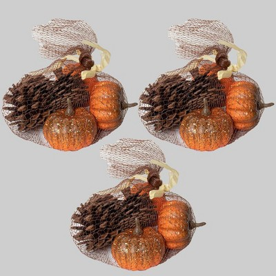 3pk Fillers Mini Pumpkins and Pinecones - Bullseye's Playground™