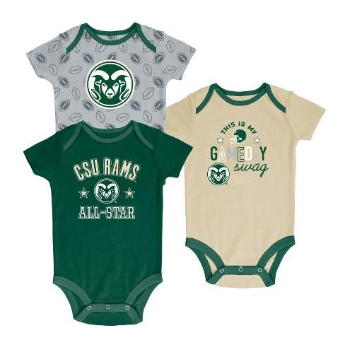 Colorado State Rams Baby Boy Short Sleeve 3pk Bodysuit - image 1 of 1