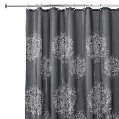 InterDesign Dandelion Polyester Shower Curtain