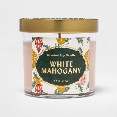 4.1oz Lidded Glass Jar Candle White Mahogany - Opalhouse™