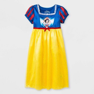 Toddler Girls' Disney Princess Snow White Fantasy Nightgown - Blue/Yellow