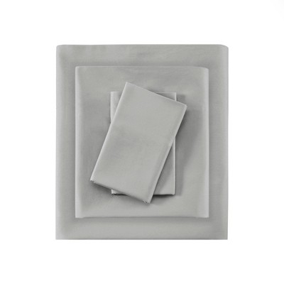 Liquid Cotton Sheet Set (King)Silver