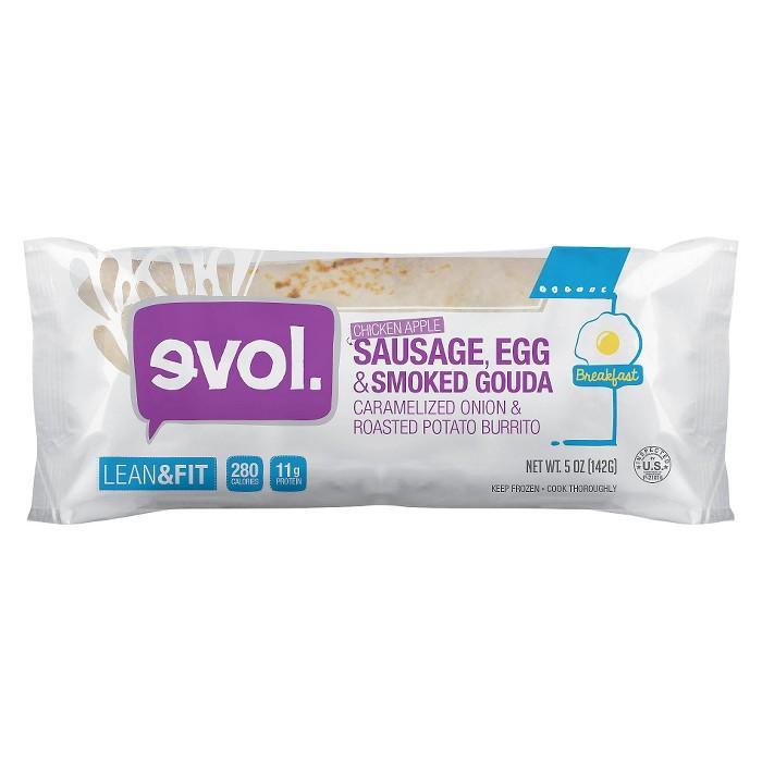 Evol Chicken Apple Sausage-Egg & Smoked Gouda-Caramelized Onion & Roasted Potato Frozen Breakfast Burrito - 5oz - image 1 of 1