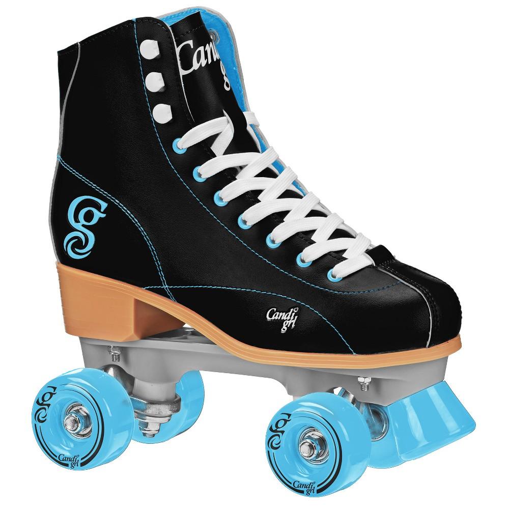 Roller Derby Candi Girl Women's Roller Skate - Sabina - Black/Teal (10), Black Blue